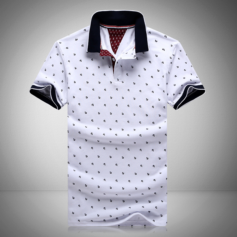 2016 New Brands Mens Printed POLO Shirts Brands 100% Cotton Short Sleeve Camisas Polo Stand Collar Male Polo Shirt M-3XL.EDA234(China (Mainland))