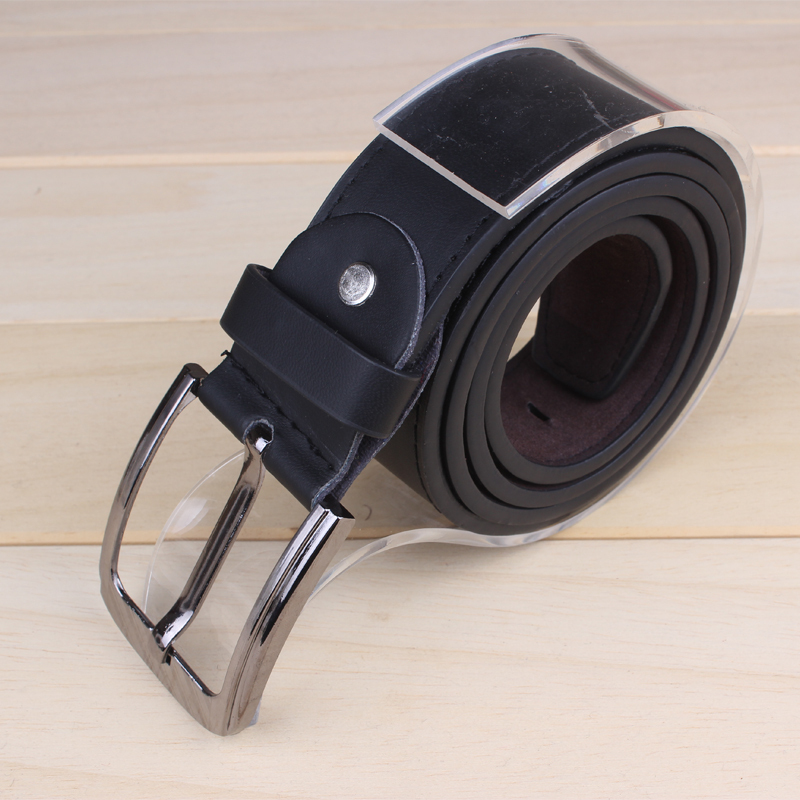 Free Shipping 2014 Fashion PU Leather Men Belt Brief Cowhide Genuine Strap Buckle Casual Belt(China (Mainland))