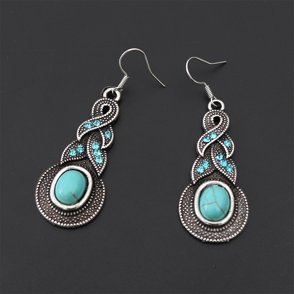 2015 New Free Shipping Crazy Gold Plated Jewelry Dangle long Fashion restoring green big round Crystal drop Earrings for women(China (Mainland))