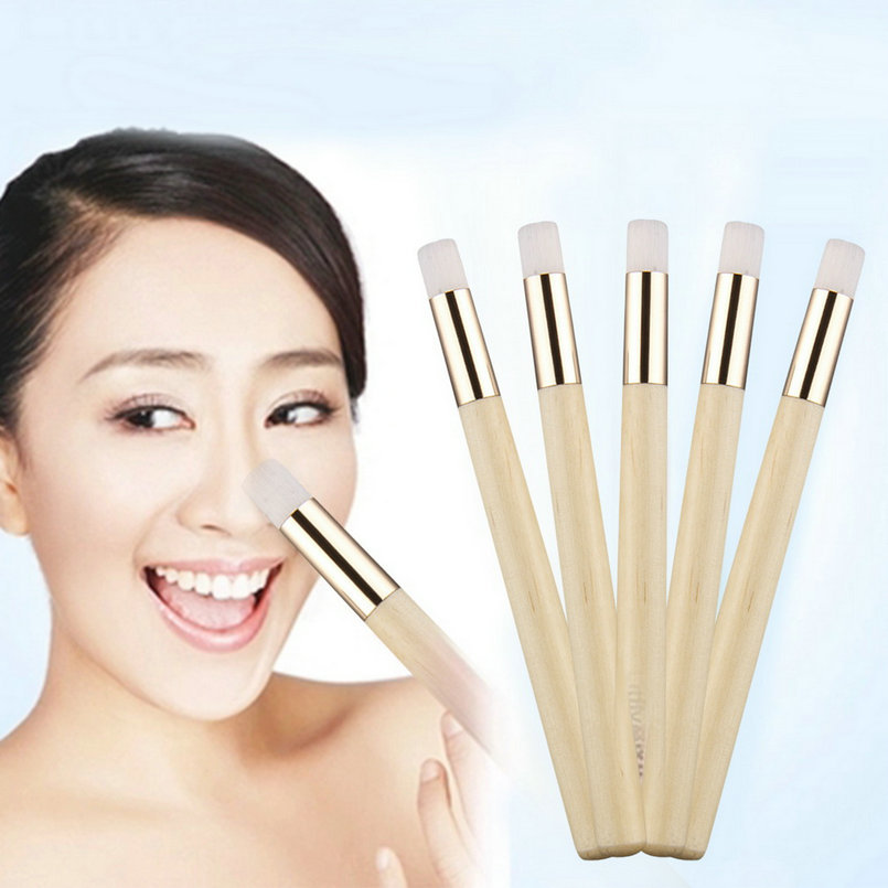 5pcs/set Professional Wooden Handle Flat Nose Blackhead Remover Brush Pore Control Deep Cleansing Facial Cleanser Beauty Tool(China (Mainland))