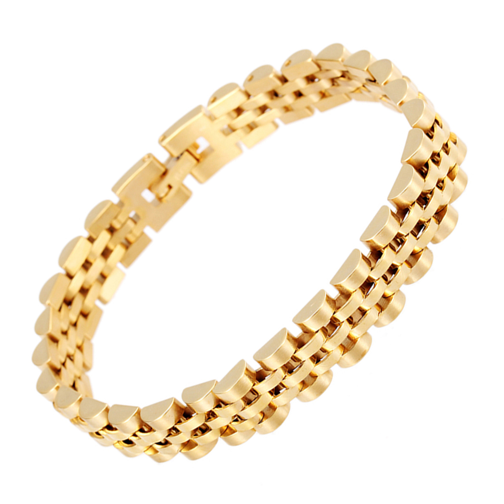 Sport Football Design Unisex Charm IP 18K Gold Plating High Quality Stainless Steel Bracelet Fashion Links Chain Free Shipping(China (Mainland))