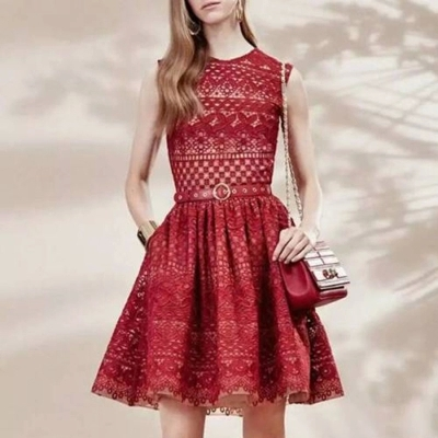 Princess Dress 2015 European Fashion Summer Womens Cute Sleeveless Black/White/Red Above Knee Lace Tunic DressОдежда и ак�е��уары<br><br><br>Aliexpress