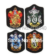 4Pcs/set Harry Potter School Crest Iron on Patch Slytherin,gryffindor,hufflepuff,ravenclaw,hogwarts Large Badge AE00042(China (Mainland))