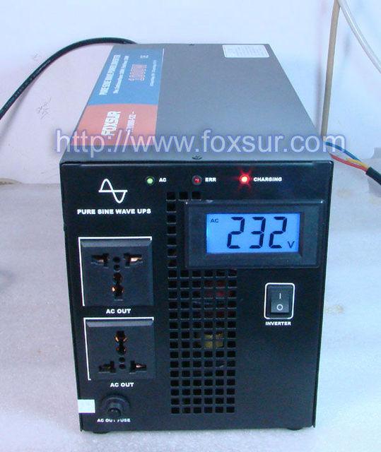 1000w pure sine wave inverter UPS inverter 12v 24V 48V to 230v with charger function