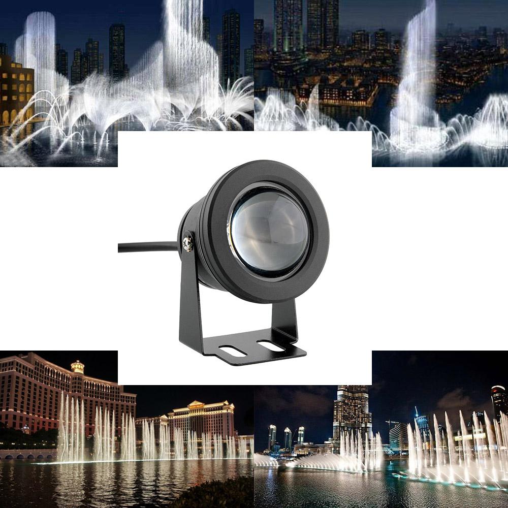 10W Saving Black Underwater Submersible Spot Light Spotlight Garden Pool Pond Lamp Waterproof Pure White(China (Mainland))
