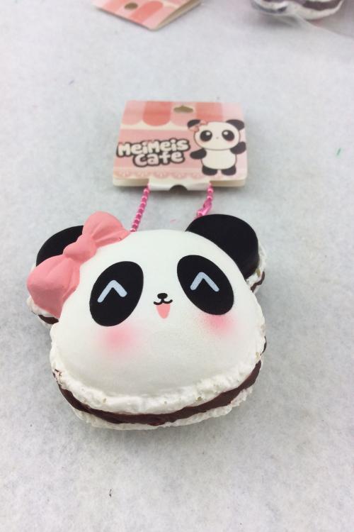 2015 new original package panda kuwaii cute Squishy  yellow pineapple cell phone charm 6pcs/lot free shipping  (China (Mainland))