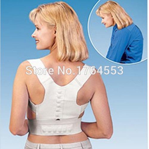 Origin Box Adjustable Unisex Magnetic Therapy Band Posture Back Shoulder Corrector Support Brace Belt Posture Is Very Good(China (Mainland))