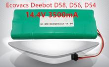 Ecovacs deebot Vacuum Battery 3500mAh 14.4V for Ecovacs Deebot D54 Deepoo D56 D58 Deepoo 540 550 560 570 580 Free Shipping