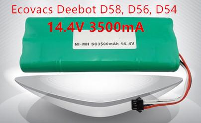 Ecovacs deebot Vacuum Battery 3500mAh 14.4V for Ecovacs Deebot D54 Deepoo D56 D58 Deepoo 540 550 560 570 580 Free Shipping(China (Mainland))
