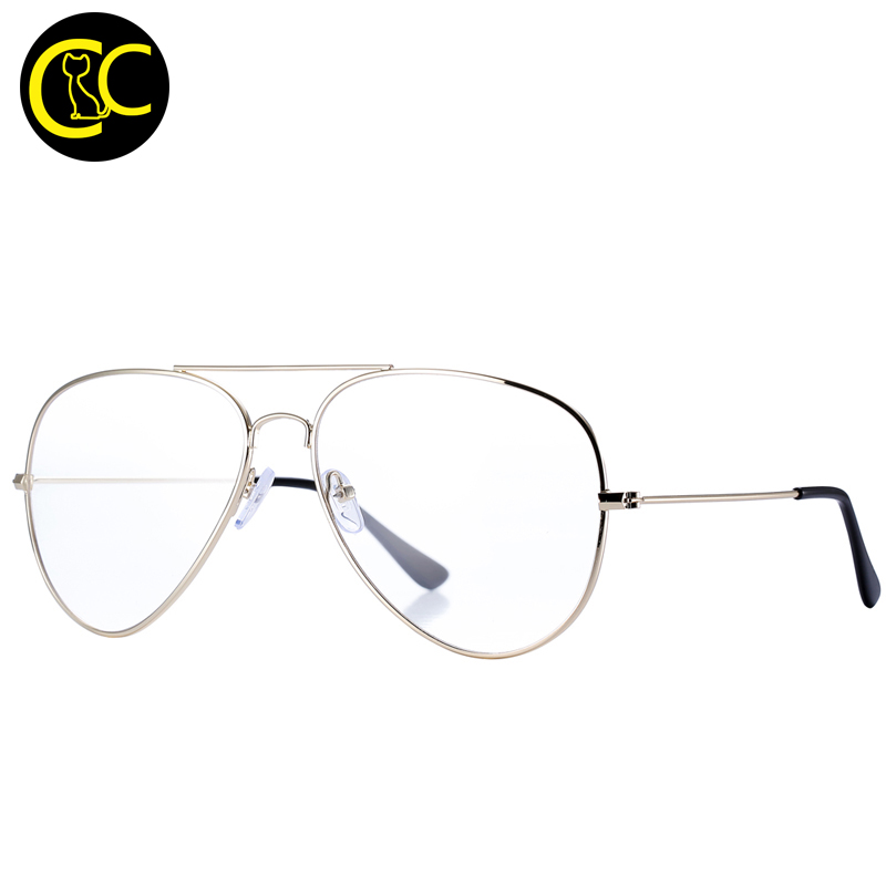 clearcode unisex retro aviation optical clear frames eyeglasses for women clear gold frame glasses computer lenses oculos cc0887