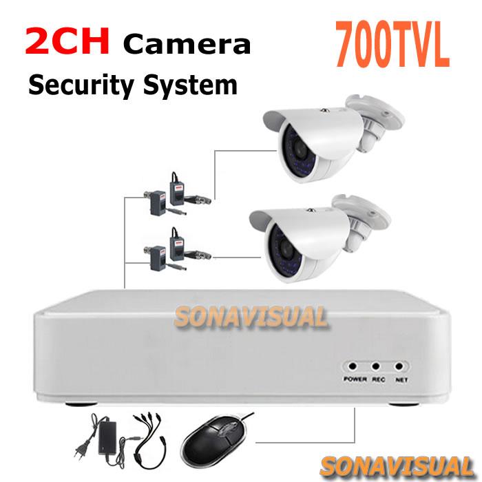 700TVL home security Surveillance  CCTV Cameras with 2ch cctv dvr system security surveillance camera system diy kit<br><br>Aliexpress