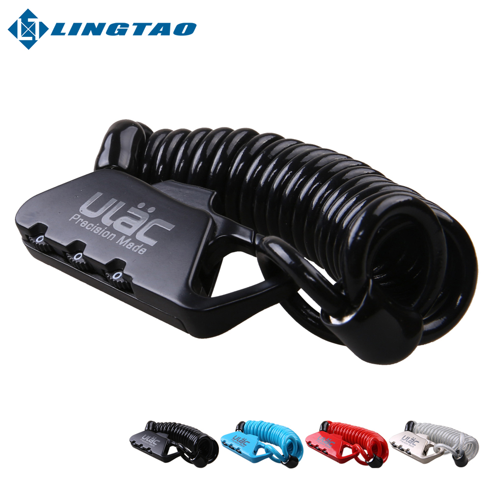 Hot Sale! Mini Cycling Cable Lock MTB Road Bike Helmet Lock Bicycle Prevent Theft Password Lock 4Color Fashion Safety(China (Mainland))