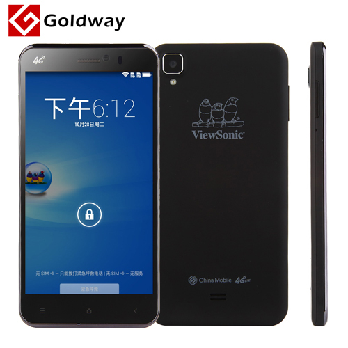 Original ViewSonic V500 4G LTE Mobile Phone 5.5 Inch FHD 1920X1080 2GB RAM 16GB ROM MSM8926 Quad Core Android 4.4 Dual SIM GPS(Hong Kong)