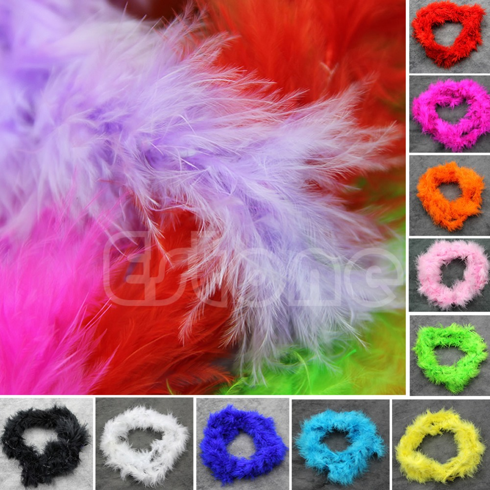 L109   Various Colours 2Meters Marabou Feather Boa For Burlesque Boas Fancy Party Decor(China (Mainland))