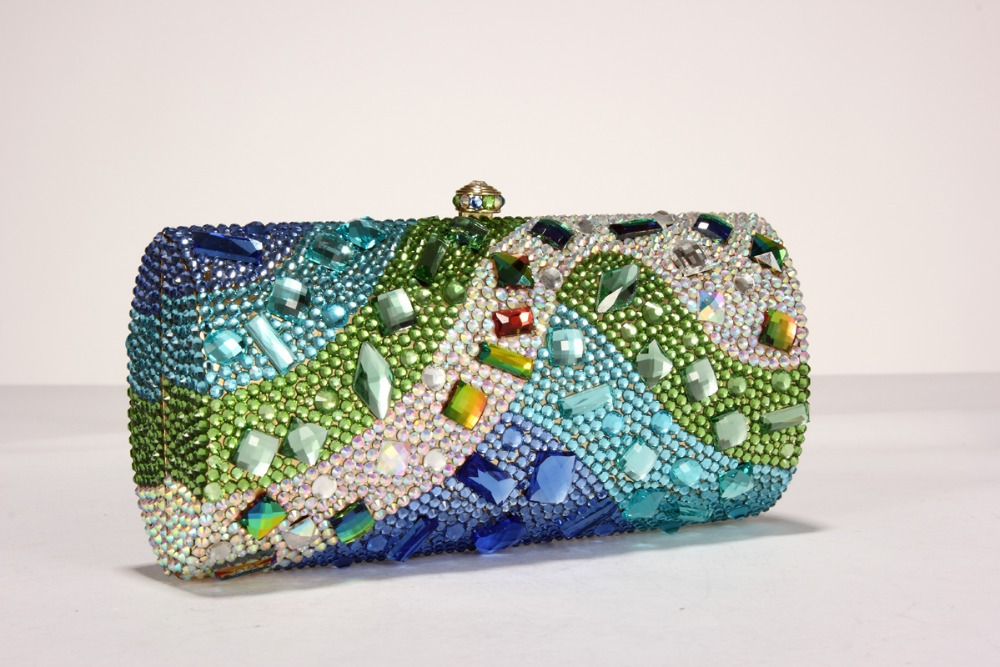Gift Box 25 Designs Womens Fashion Rhinestone Evening Party Clutches Bags Crystal Wedding Prom Handbags Bride Clutch Bag Purses<br><br>Aliexpress