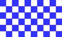 font b CHEQUERED b font BLUE AND WHITE Flag 3ft x 5ft Polyester Banner Flying