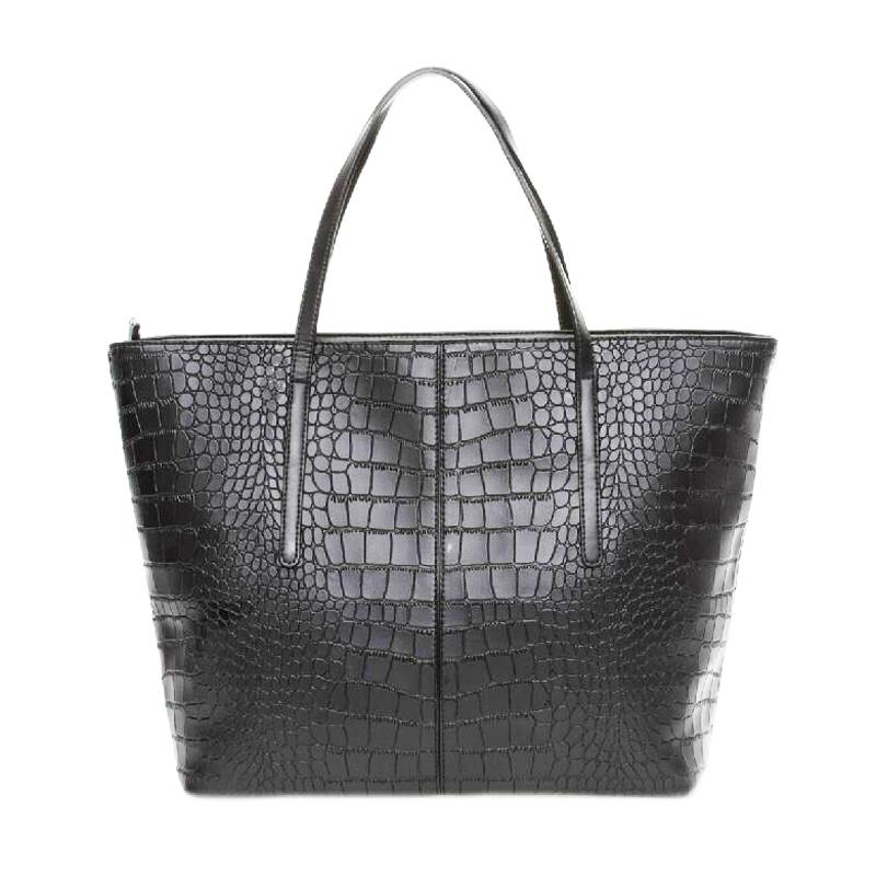 Гаджет  Woman Bags Fashion 2015 Designers Vintage Casual Tote Bag Black Big Handbags Blue Crocodile Shoulder Bag Alligator Purse Bolsos None Камера и Сумки