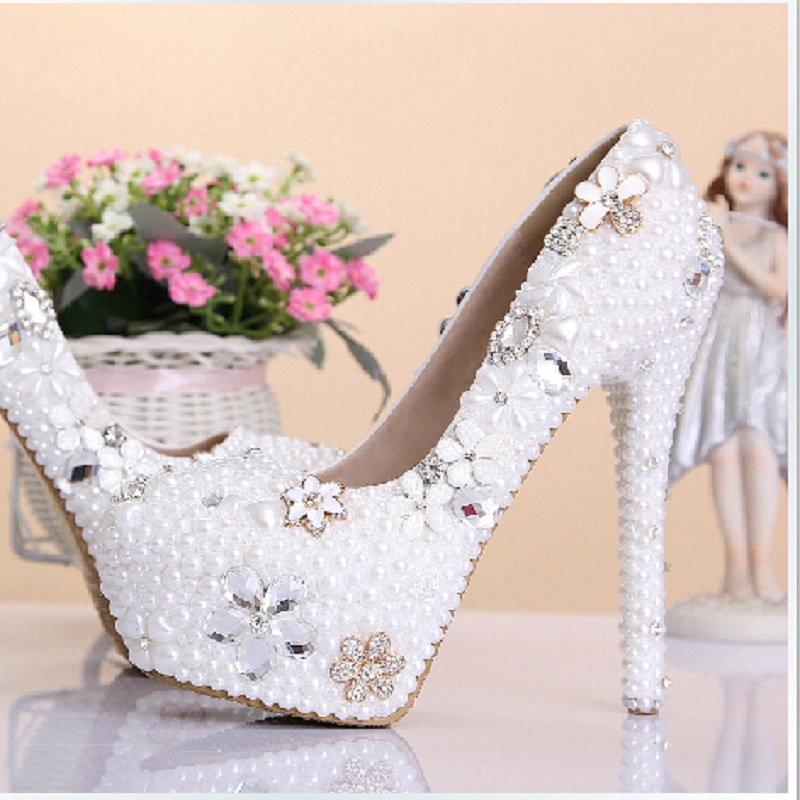 Фотография New rhinestone wedding shoes bayan ayakkabi dames schoenen women pumps zapatos mujer