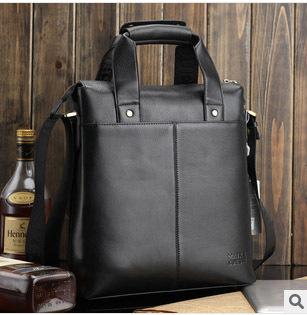 Hot !!! Free shippingn New fashion 2014  Genuine leather men shoulder bag,Handbag ,business fit & Ipad fit