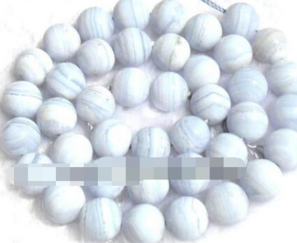 xiuli 000812 10mm natural blue chalcedony round  Beads 15<br><br>Aliexpress