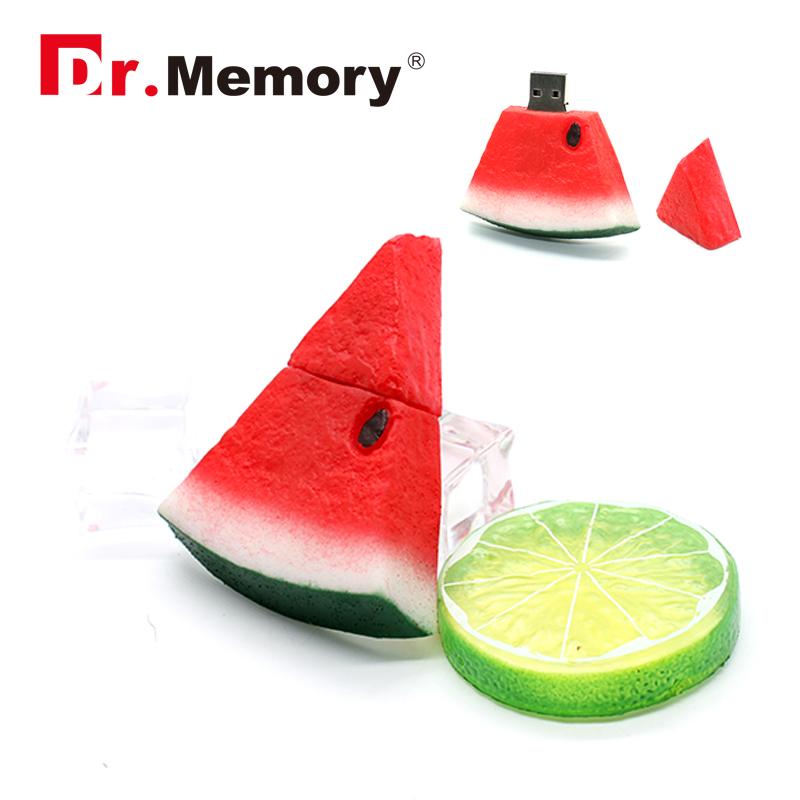 USB flash drive watermelon Cartoon model pen drive cartoon128mb/ 4g/8g/16g/32g USB stick gift free shipping flash card(China (Mainland))