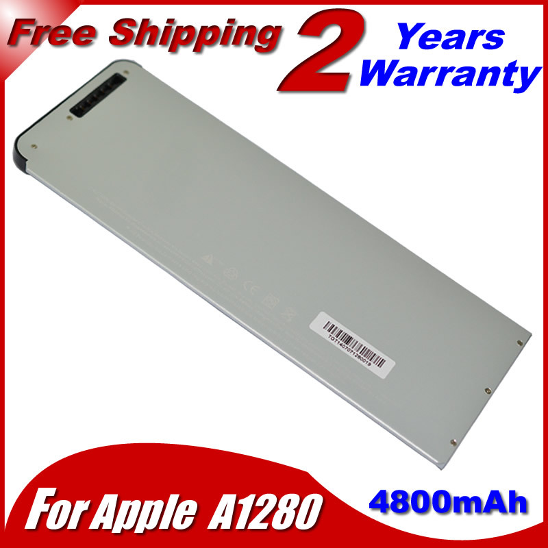 "4800mah White Laptop Battery For Apple MacBook 13"" A1278 For MacBook 13"" A1280 MB771 MB466*/A(China (Mainland))"
