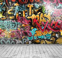 HUAYI Printed photography background graffiti Bricks wall backdrop XT-2399