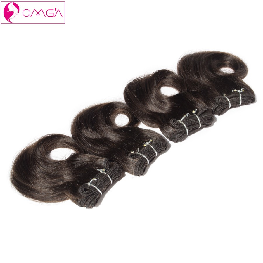 OMGA Malaysian Virgin Hair Body Twist Human Hair Weaves Malaysian Body Wave 2*8′ 2*10′ 4pcs Hair Extensions #1B #2 #4 120g/Set