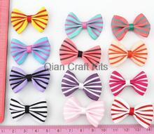250pcs  34mm Grosgrain Ribbon Stripe bowknots Bow Ties ,Tie Bows Boutique Baby Ribbon Hair Bows-Baby Shower Gift by0172