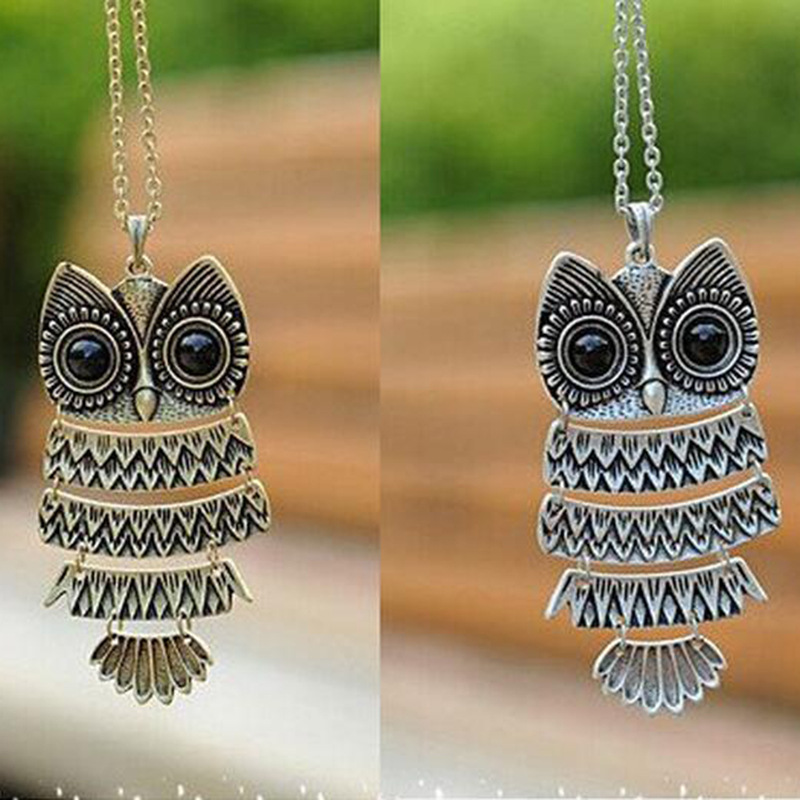 product Min.order is $15 (mix order)Free Shipping Korea Adorn Article Owl NecklaceAncient the Owl Sweater Chain#N1177 N1176