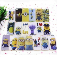 1pcs Thin Skin Soft TPU Case Minions Case For apple i Phone iphone5s iphone5 5g for iPhone 5 5s mobile phone case shell
