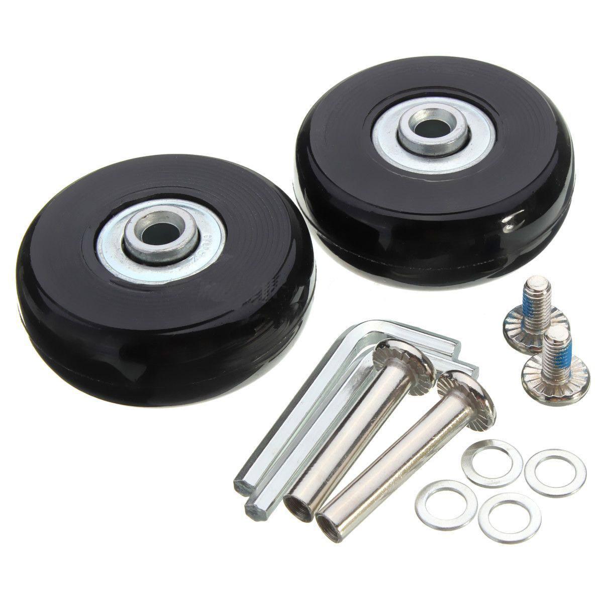 18mm Par de almacenamiento de maletas Ruedas de repuesto OD 50 32 Kit de reparaci/ón LESOLEIL Ruedas de Repuesto para Maleta 50