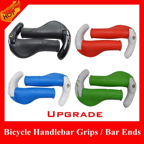 HOT selling New 2015 Fashion Upgrade Non-slip Magnesium alloy horn rubber Grips, Bicycle Handlebar Bar Ends Cycling parts - HiCoo Global Trade Co., Ltd store