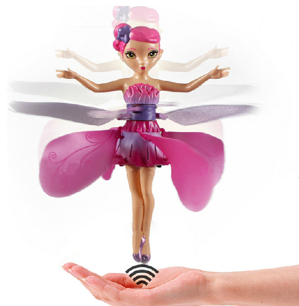 2015 New Toys Flying Angel Fairy Infrared Induction Control Flying Doll Electric toys Free Shipping(China (Mainland))