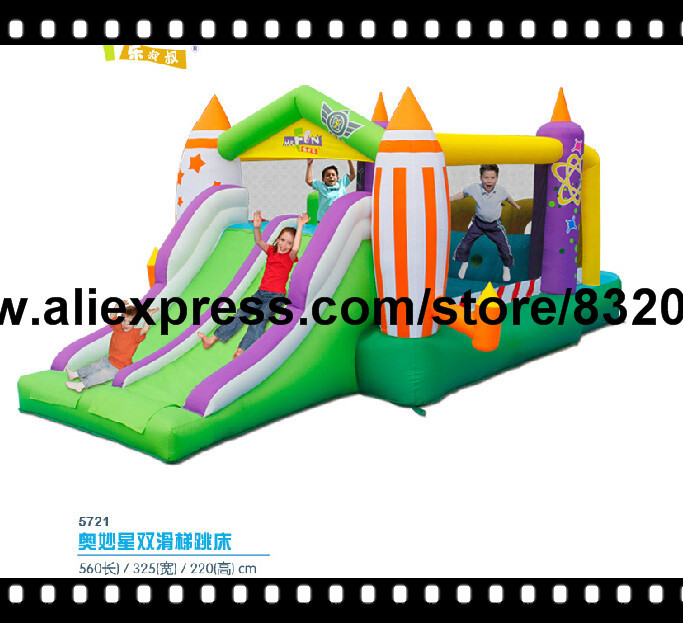 free shipping new CE hot bouncy castle best inflatable bounce for kids funny infatable slide for kids(China (Mainland))
