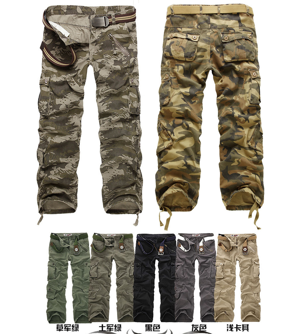 Outdoor Military training camo cargo pants men Army 2014 Mens Casual camouflage overalls trousers Plus size - Fashionable Men store