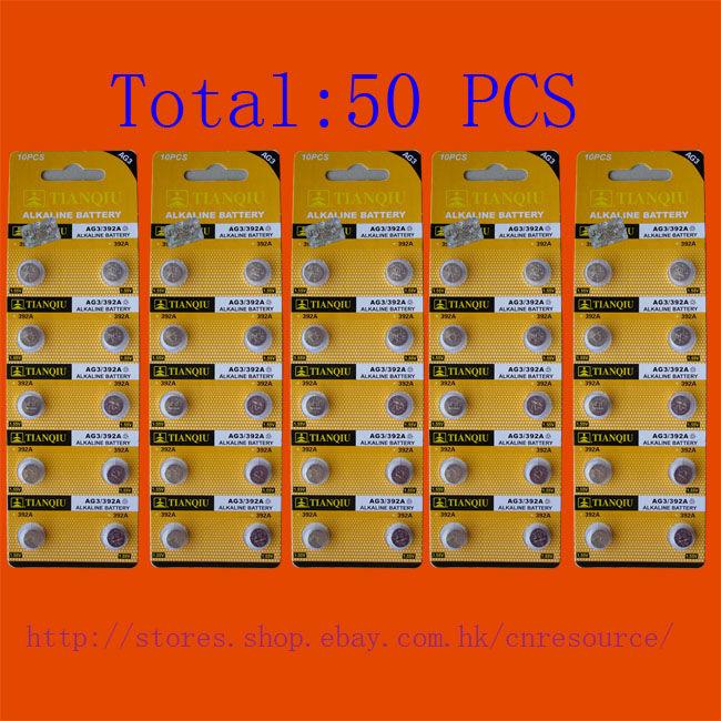 50PCS AG3 LR41 392 SR41SW alkaline battery TIANQIU<br><br>Aliexpress