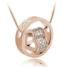 Hot Heart Pendant Statement Necklace Fashion Crystal Fine Jewelry Long Necklace for Women Summer Jewelry