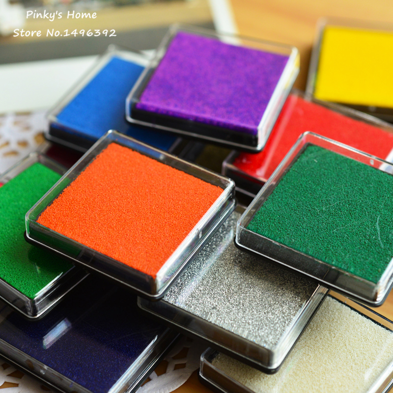 15 Colors Cute Inkpad Craft Oil Based DIY Ink Pads for Rubber Stamps Fabric Scrapbook Wedding Decor Fingerprint Stamp Pad(China (Mainland))