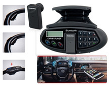 Car Steering Wheel Car Kit with Bluetooth Headset, Phonebook, MP3 Player and FM Radio (Black)(China (Mainland))