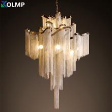 De aluminio de diseño de la borla de lujo iluminación vestíbulo del hotel salón Atlantis corriente luz colgante salón decoración lampe e14 lampadari(China (Mainland))