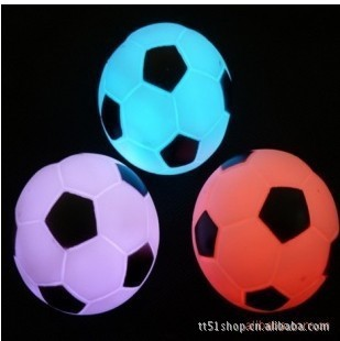 2014 night market selling wholesale supply Colorful Football Night Light LED Decoration Candle Lamp light,great gift for kids(China (Mainland))
