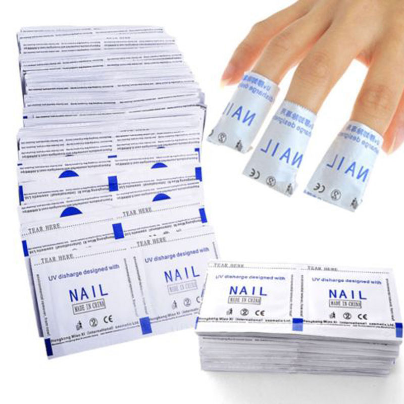 400Pcs/ Lot UV Gel Nail Polish Remover Removal Wraps Acetone Pads Foil Art Cleaner High Quality(China (Mainland))