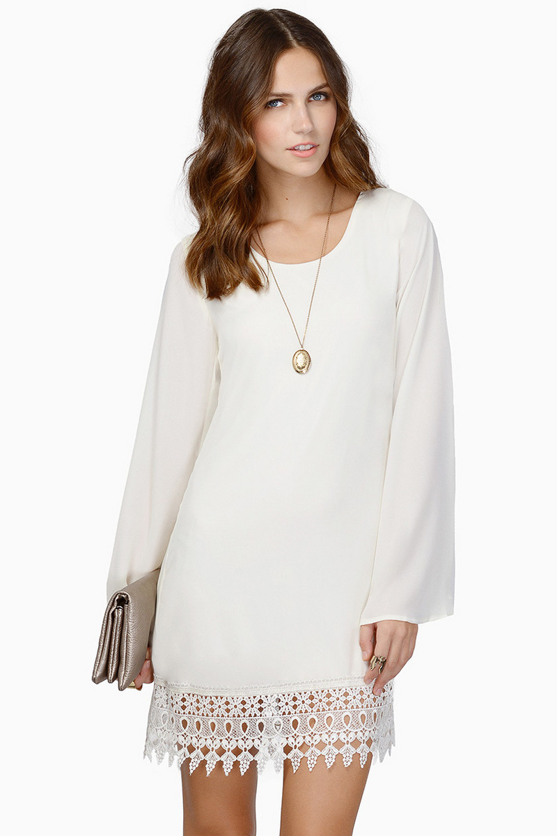 White Chiffon Summer Dress