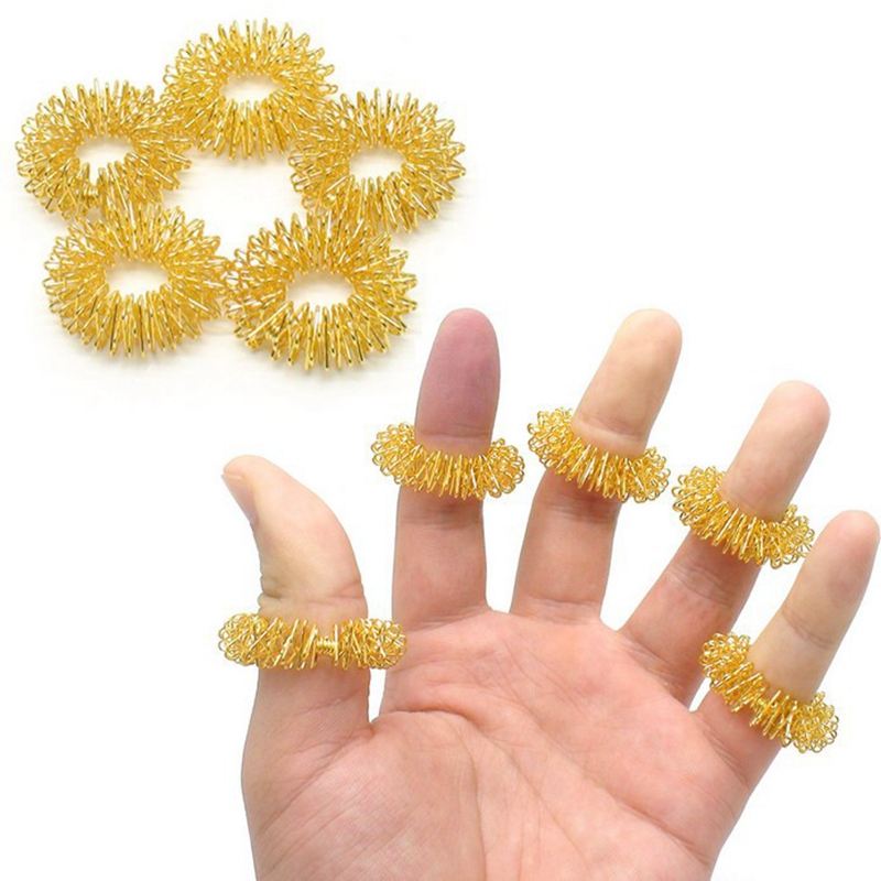 5 PCS Finger Massage Ring Acupuncture Rings Health Care Body Massager