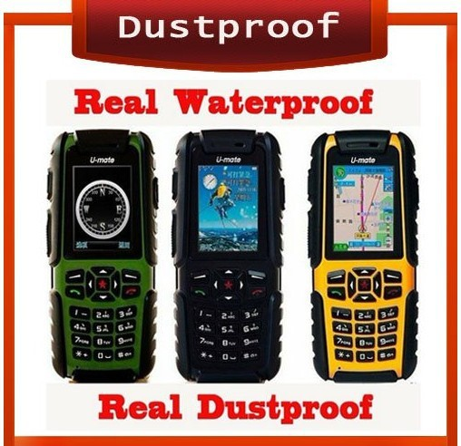 Free Shipping Original Real Waterproof Dustproof mobile phone GSM Dual mobile A81 U-mate Outdoor Mobile Phone Russian Keyboard(China (Mainland))