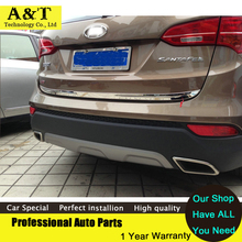 Chrome Rear Trunk Lid Cover trim 2013 2014 2015 Hyundai Santa Fe IX45 chrome stickers car styling - CHARVING Super Car store