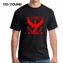 Buy Yo-Young 2016 New Men T Shirts Pokemon Team Design Go TEAM VALOR MYSTIC INSTINCT Printed 100% 180g Combed Cotton Customized for $9.61 in AliExpress store