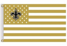 Buy New Orleans Saints US flag star stripe 3x5 FT banner for $4.49 in AliExpress store