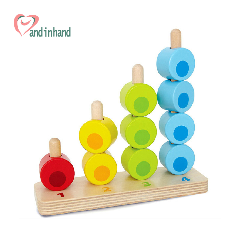 Baby Toys Geometric Blocks Balancing Game Wooden Blocks Children Preschool Play Educaitonal Bricks Learning Kids Toy(China (Mainland))